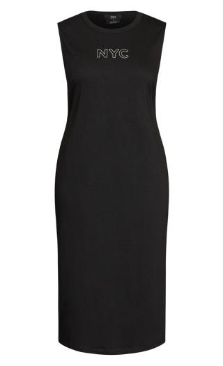 NYC Midi Dress - black