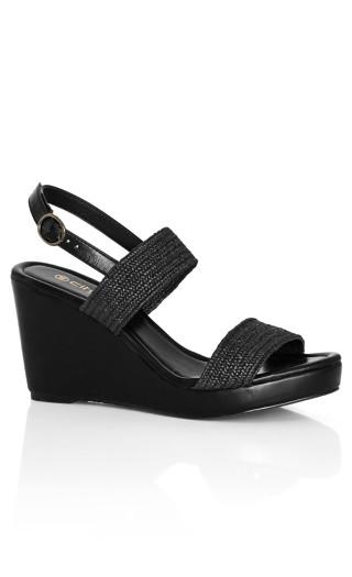 Floria Wedge - black
