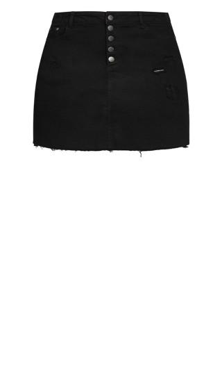 Distress Corset Skirt - black wash