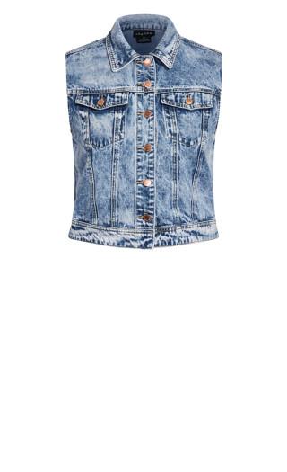 Denim Vest Jacket - light wash