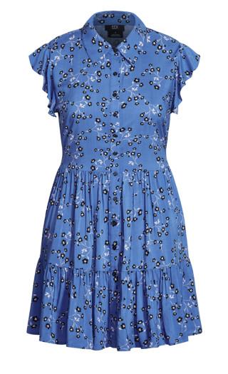 Blue Meadow Dress - blue