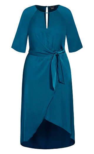 Sleek Tie Dress - blue
