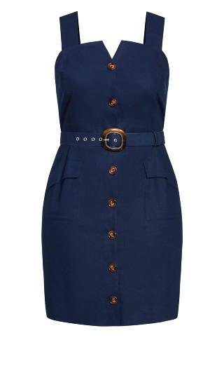 Sweet Utility Dress - navy
