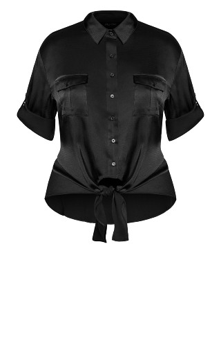 Blouse About Shirt - black