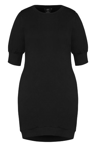 Puff About Dress - black