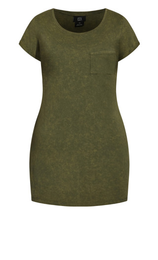 Cool T-Shirt Dress - moss