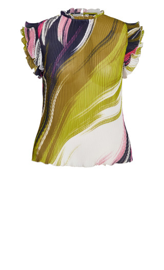 Colour Wave Top - ivory