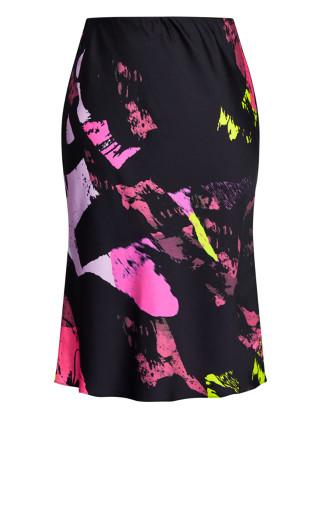 Colour Shock Skirt - black