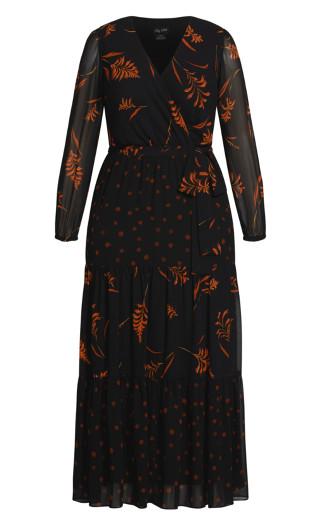 Turning Leaves Maxi Dress - black