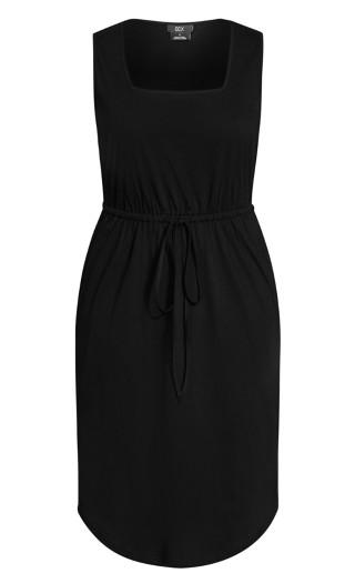 Soft Tie Dress - black
