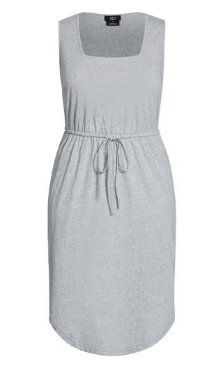 Soft Tie Dress - silver