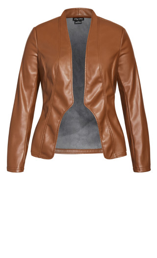 Sleek Royal Jacket - cognac
