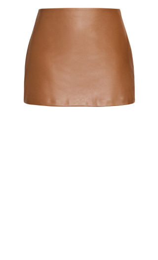 Sleek Love Skirt - cognac