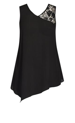Double Lace Top - black