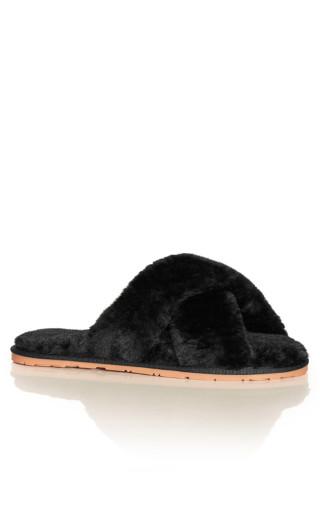 Fuzzy Slipper - black