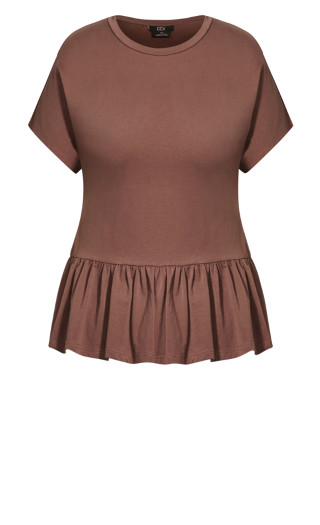 Relaxed Frill Top - dusk
