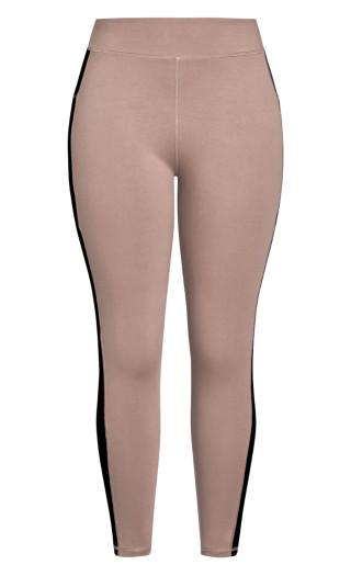 Splice Full Length Legging - mocha