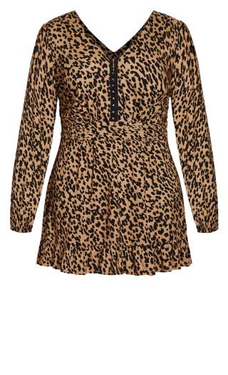 Feline Dress - leopard