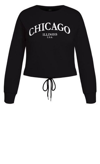 Check In Sweat Top - black