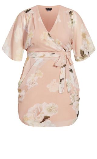 Ethereal Bloom Dress - rose bud