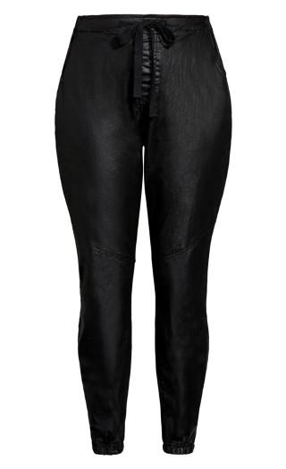Wet Look Love Pant - black