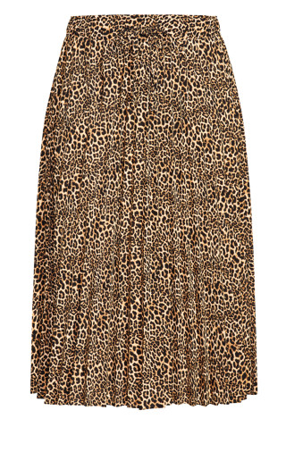 Luxe Animal Skirt - leopard