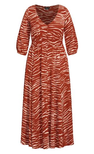 Ginger Tiger Maxi Dress - ginger