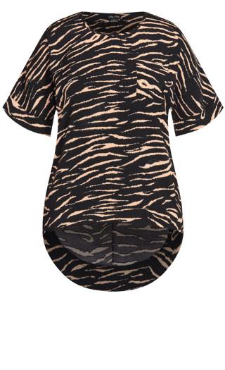 Tiger Love Top - black