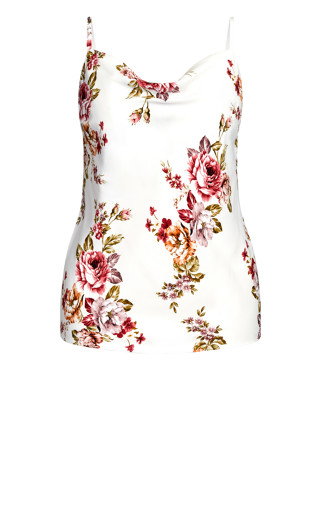 Rose Garden Cami - white