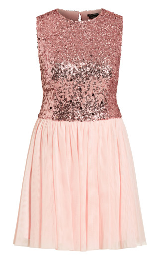 Shine Bright Dress - ice pink
