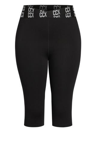 3/4 Active Legging - black