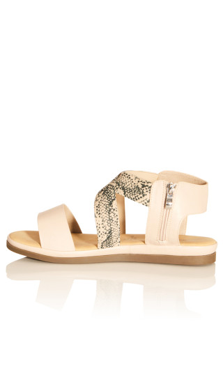Jane Double Strap Sandal - beige animal