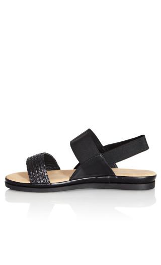 Jenna Texture Sandal - black