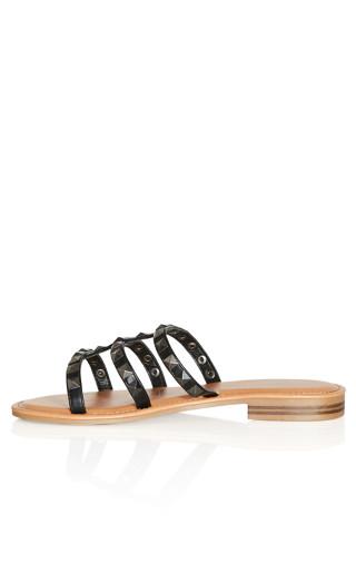 Selma Bling Slide - black