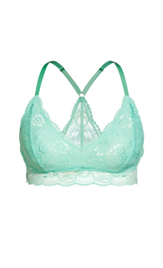 CCX Lace Bralette - aqua