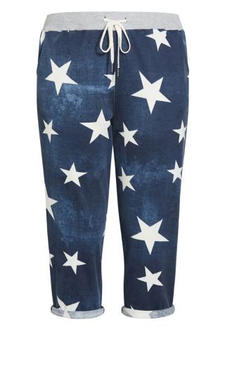 Jenny Knit Crop Pant - indigo star