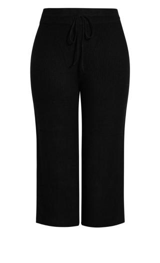 Sassy Knit Pant - black