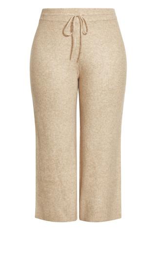 Sassy Knit Pant - caramel