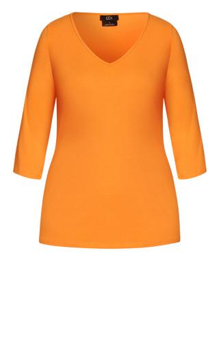 Sweet 3/4 Sleeve Top - mango