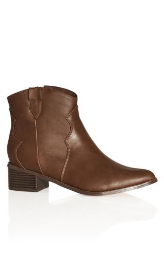 Raquel Ankle Boot - dark brown