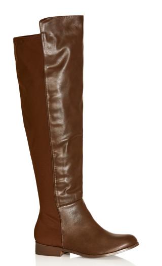 Calista Knee Boot - chocolate