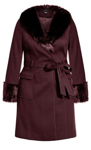 Make Me Blush Coat - bordeaux