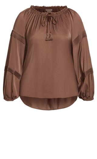Sweet Angel Shirt - mocha