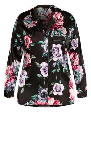 Aurora Sleep Shirt - black