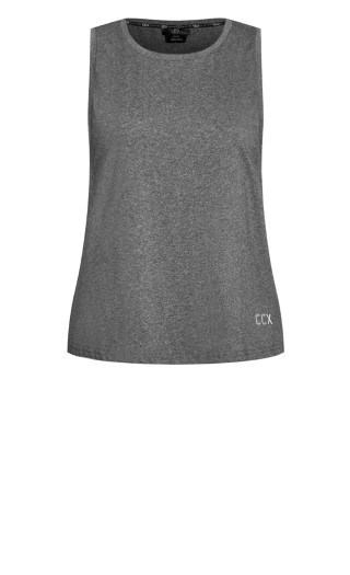 Non-Stop Top - charcoal