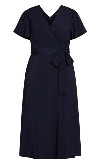 Belted Garden Dress - navy
