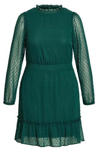 Dobby Tiered Dress - alpine