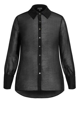 Sheer Seduce Shirt - black