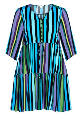 Endless Sun Dress - aqua stripe