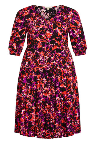 To The Max Dress - fuchsia floral